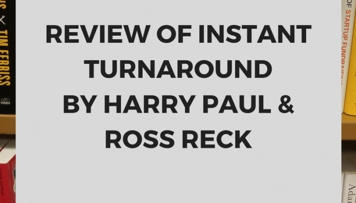 Review of Instant Turnaround by Harry Paul & Ross Reck