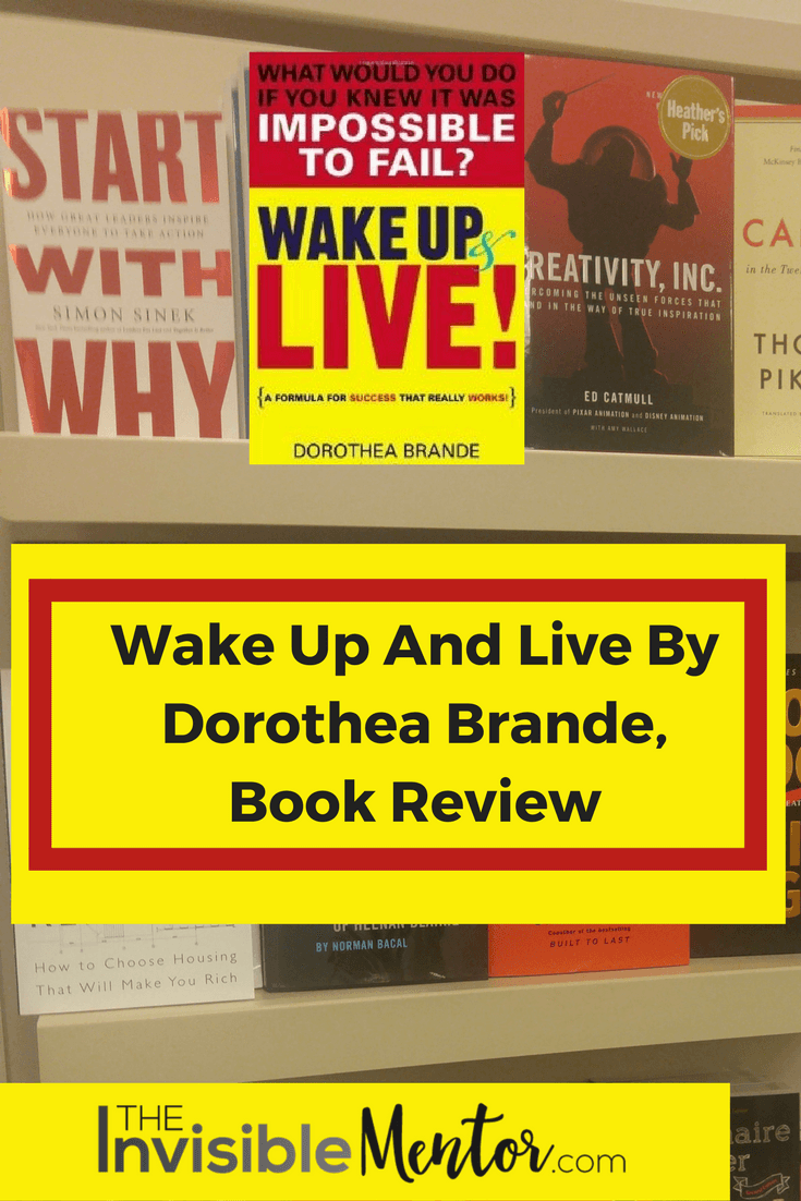 wake up and live, wake up and live dorothea brande, dorothea brande