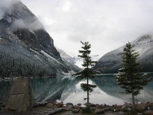 Lake Louise, Alberta, Canada, letting go