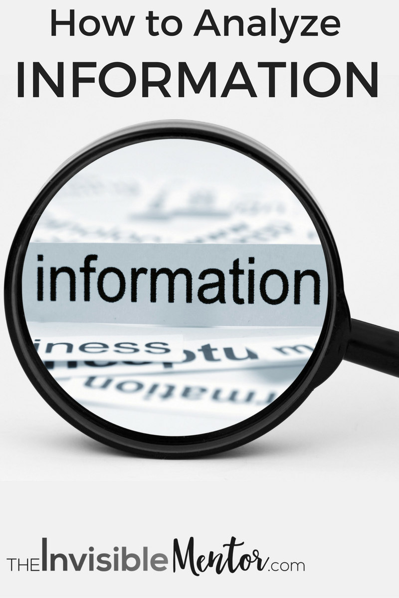 how to analyze information (gather, manage and organize information)