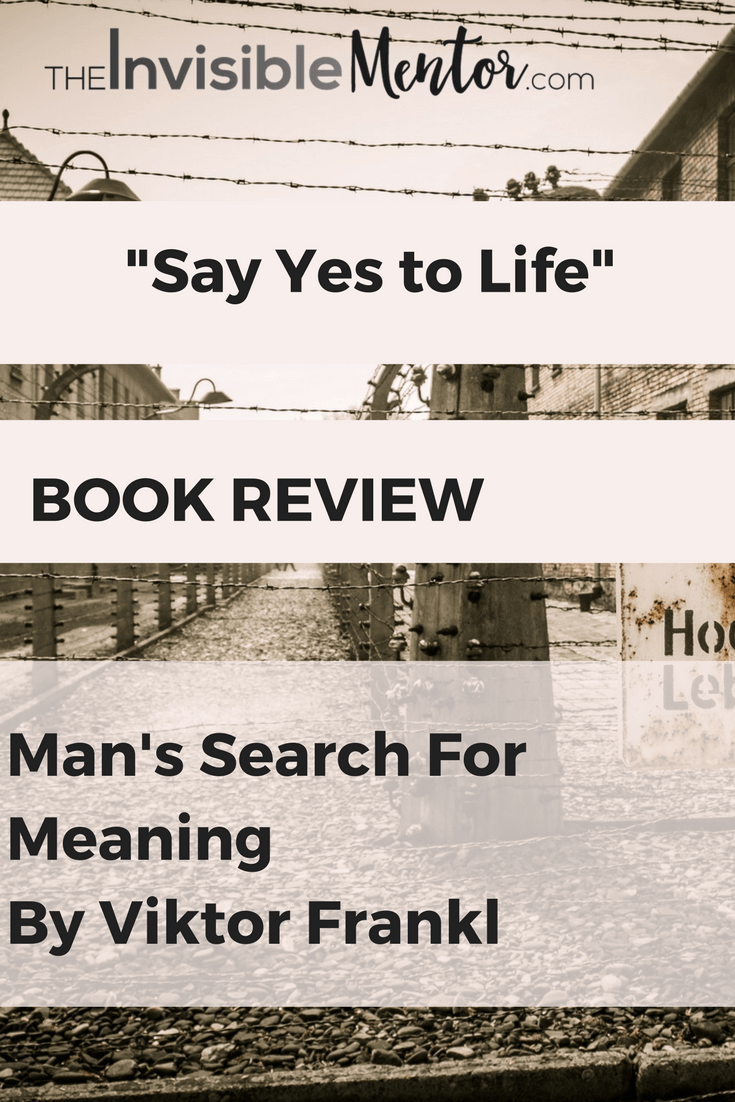 a review of viktor frankls autobiography mans search for meaning In his book, man's search for meaning, viktor e frankl uses his experiences in a   reflection paper: a critical book review of man's search for meaning  heather  for meaning, is a biography and the personal memoir of victor frankl's .