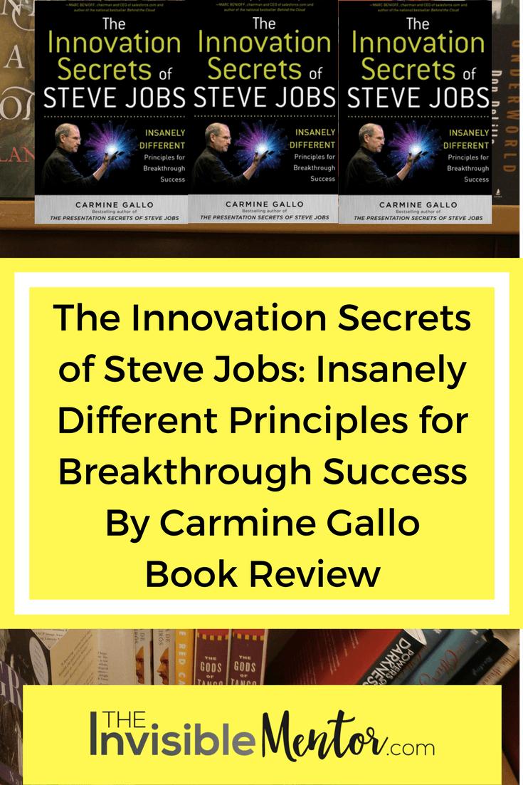 innovation secrets of steve jobs, innovation secrets of steve jobs summary