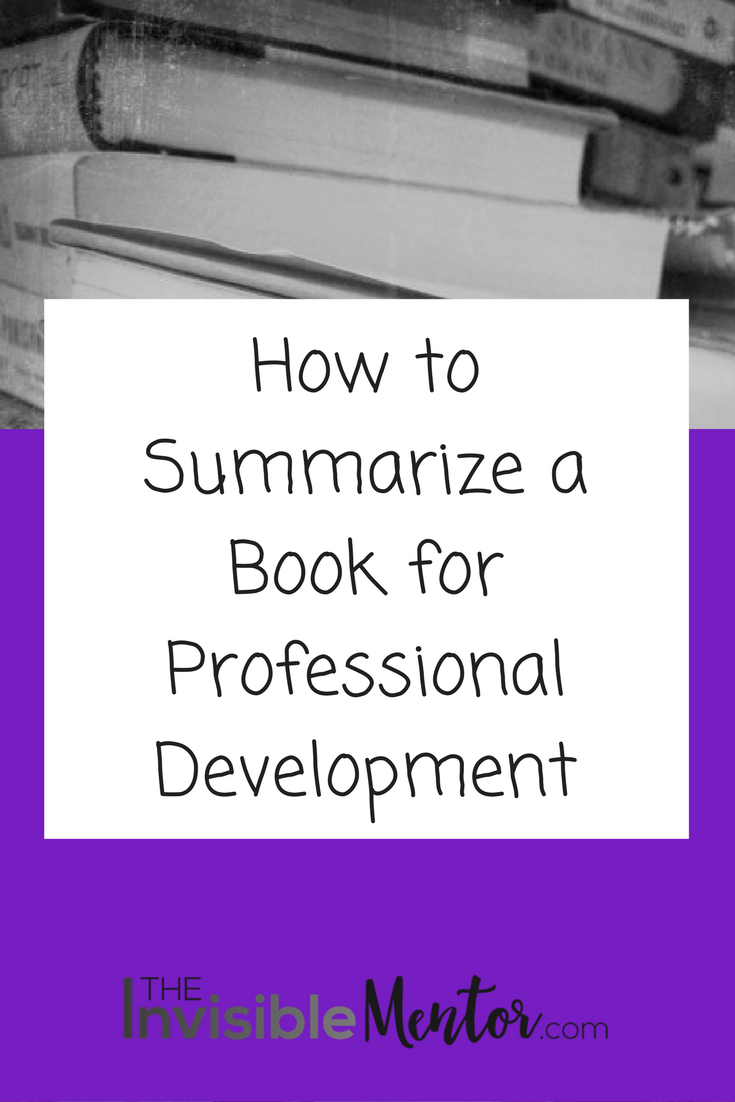 How to Summarize a Book for Professional Development