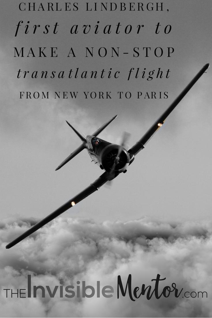 Charles lindbergh 1st non stop transatlantic flight ny for New york to paris flight
