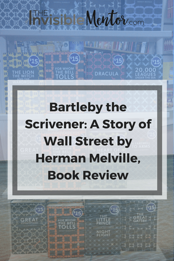 a critique of bartleby the scrivener a story by herman melville I wrote this after reading herman melville's short story bartleby, the scrivener for american lit melville has great ideas and is definately a talented.