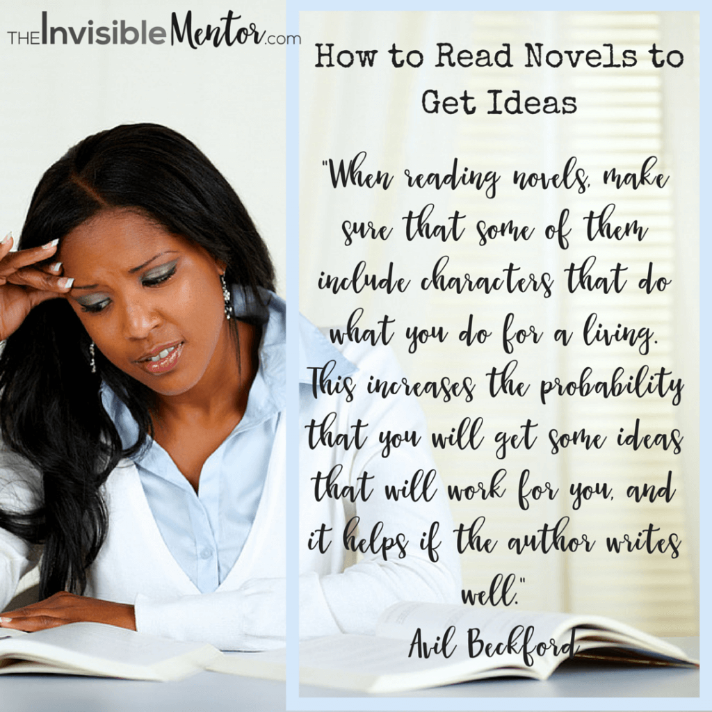 How to Read Novels to Get Ideas