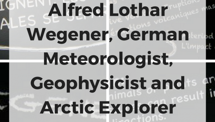 meteorologist alfred wegener essay Wegener discovered that identical rocks could be found on both sides of the atlantic essay about alfred wegener  essay: alfred wegener was a meteorologist and.