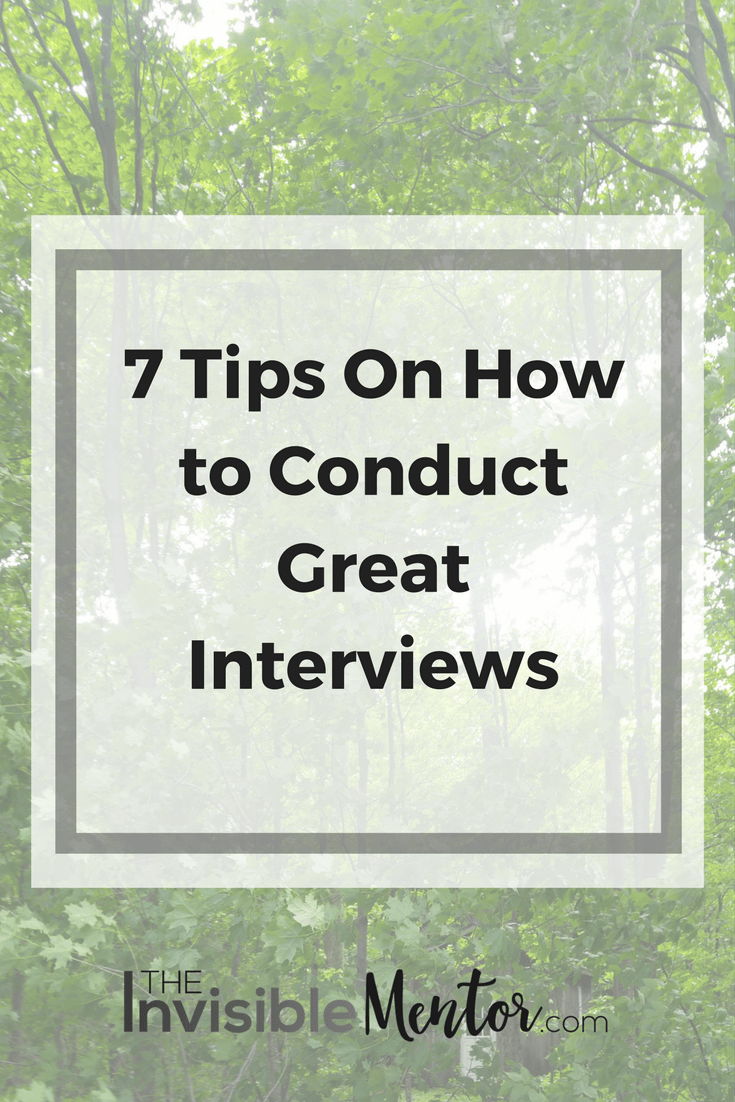 Conduct Great Interviews