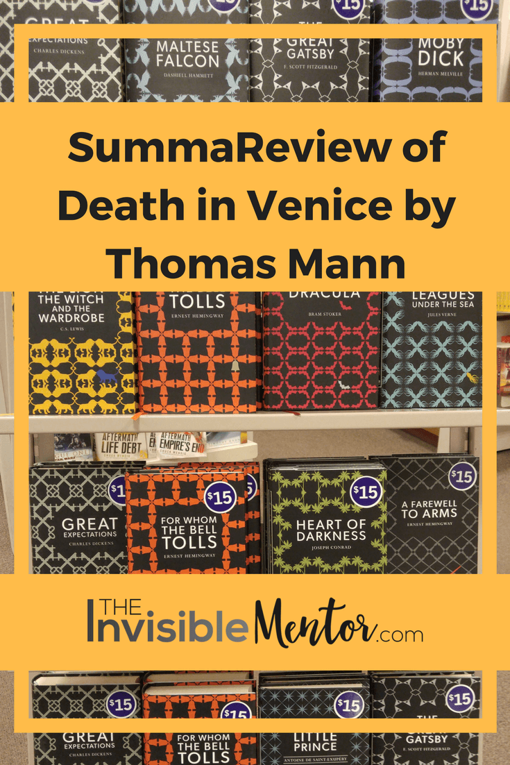 death in venice thomas mann essays Commentary on death in venice in my interpretation, thomas mann stages in this novella the nietzschean agon (conflict) between the apollonian and the dionysian.