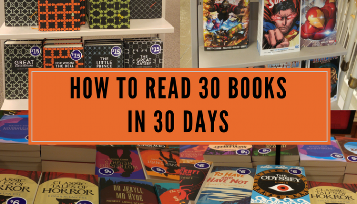 How to Read 30 Books in 30 Days