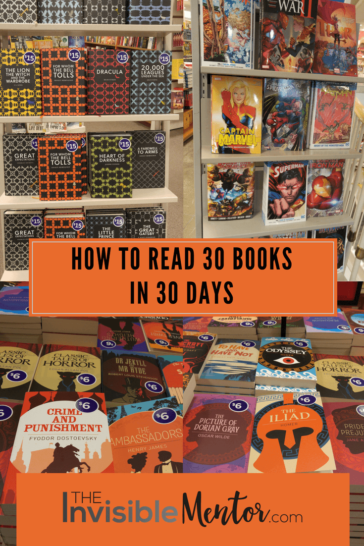how to read 30 books in 30 days, 30 books in 30 days