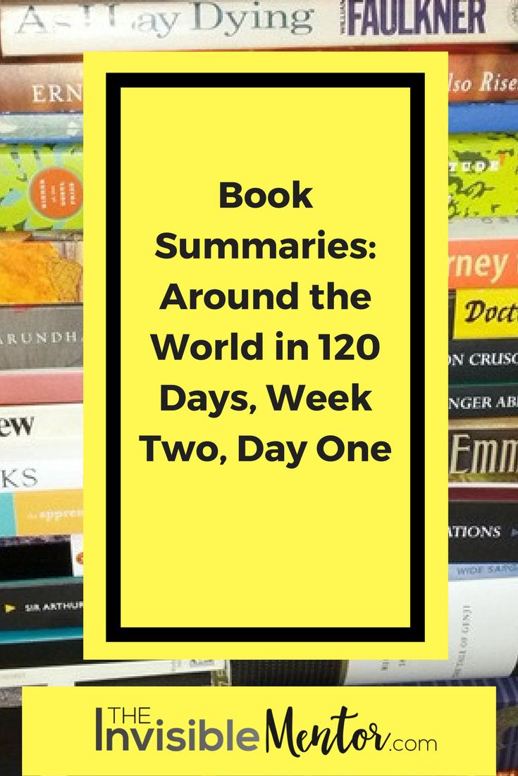 Book Summaries Around the World in 120 Days, around the world through books, global reading list, reading challenge, read the world, extreme reading challeng