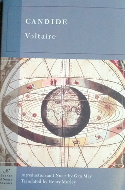 a review of candide by voltaire Our march pick for the cheshire cats classics book club was candide by voltaire this is the oldest classics we have read thus far, and perhaps the shortest candide.