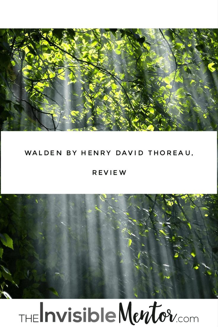 walden, walden henry david thoreau