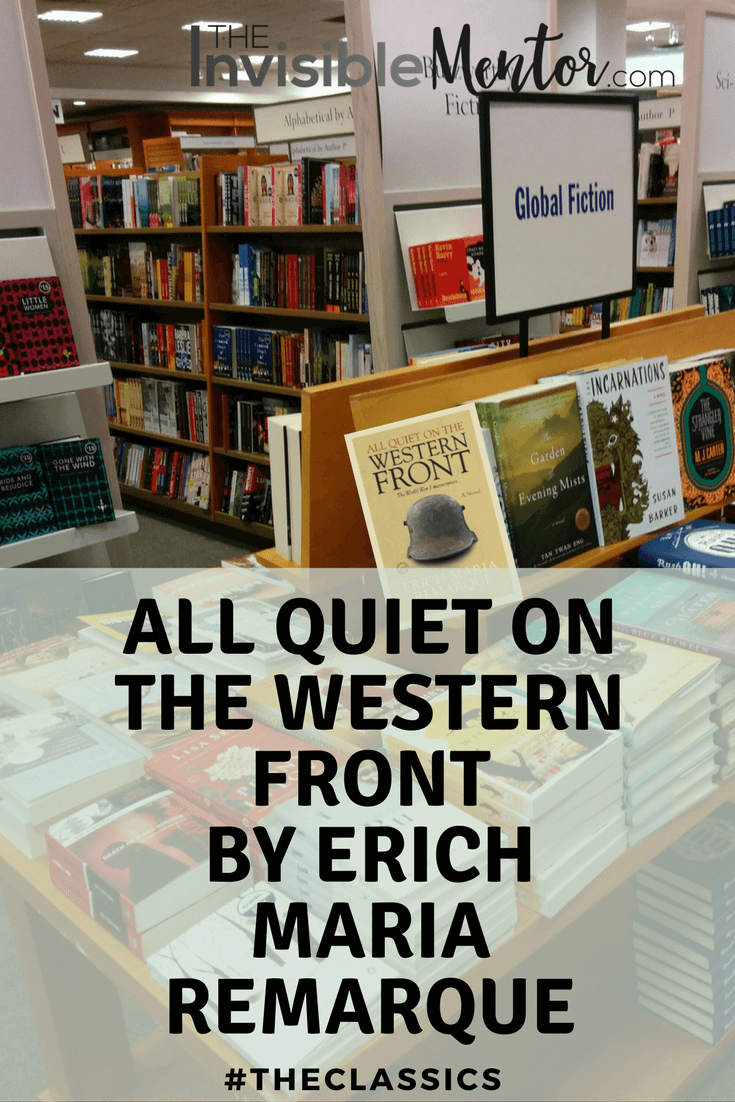 an analysis of all quiet on the western front by erich maria remarque All quiet on the western front thug notes summary and analysis what it do soldier boy this week we goin to war with all quiet on the western front by erich maria remarque.