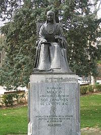 Image credit: Wikipedia - Statue of Sor Juana in Parque del Oeste, Madrid, Spain