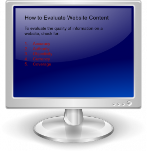 evaluate website content