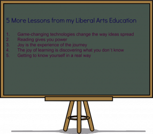 Lessons from my liberal arts education