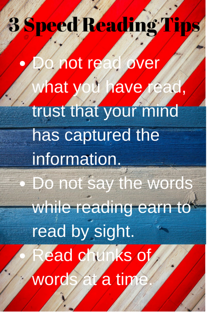 Speed Reading Tip: Read a Chunk of Words at a Time