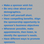 Getting Corporate Sponsorships