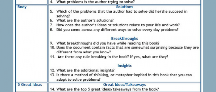 Cheat Sheet: Getting the Most from Reading Books to Problem Solve