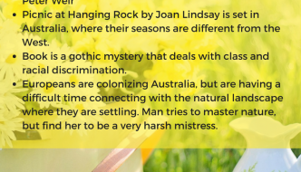 picnic at hanging rock, Joan Lindsay,picnic at hanging rock, summary