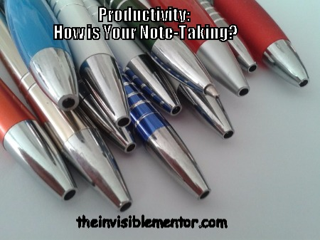 how is your note taking, note taking tips, productivity and note taking