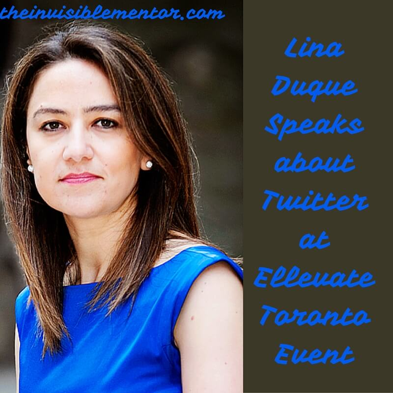 Lina Duque Speaks about Twitter at Ellevate Toronto Event