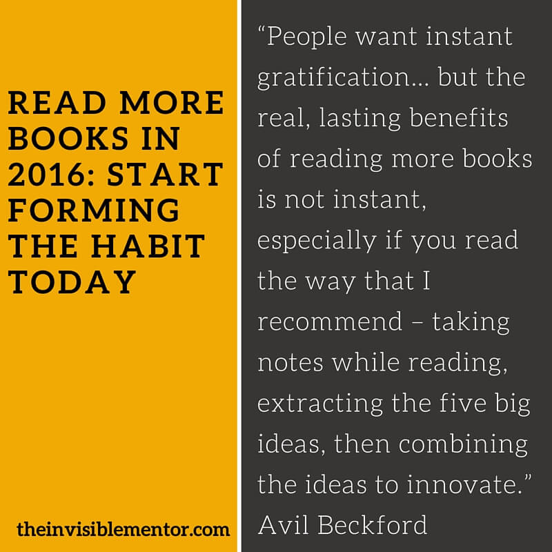 Read More Books in 2016: Start Forming the Habit Today