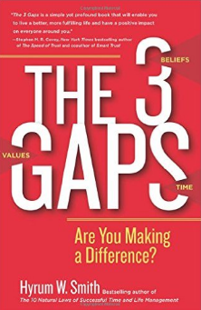 the 3 gaps,3 gaps hyrum smith,hyrum smith franklin covey,hyrum smith books