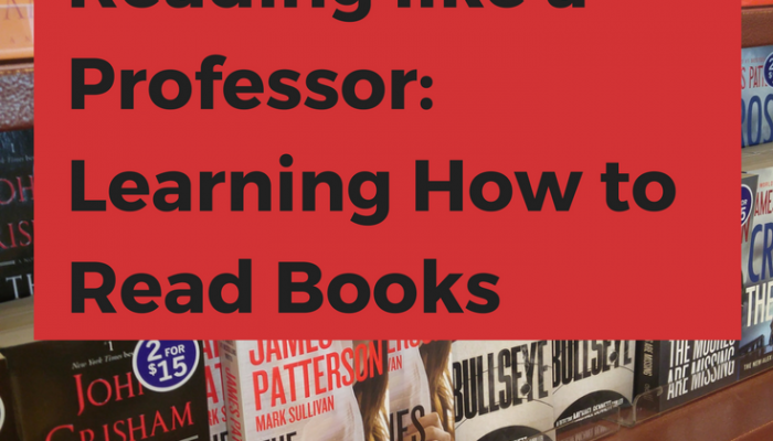 chapter 10 how to read literature like a professor Read thomas c foster's ​how to read literature like a professor​, (htrllap )the revised edition  chapter 10 - never stand next to the hero chapter 12.