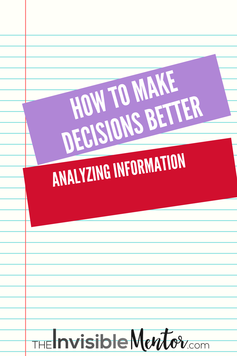 How to make decisions 95