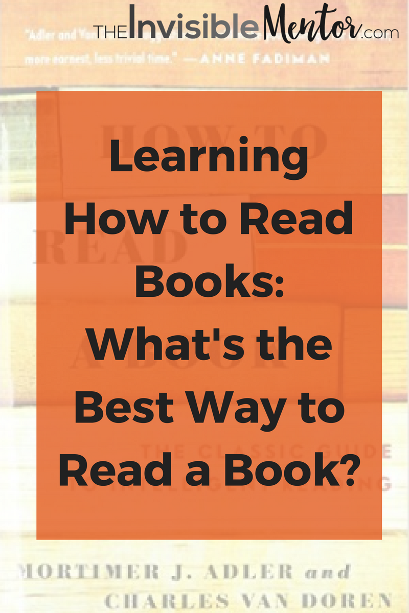 Learning How To Read Books What S The Best Way A
