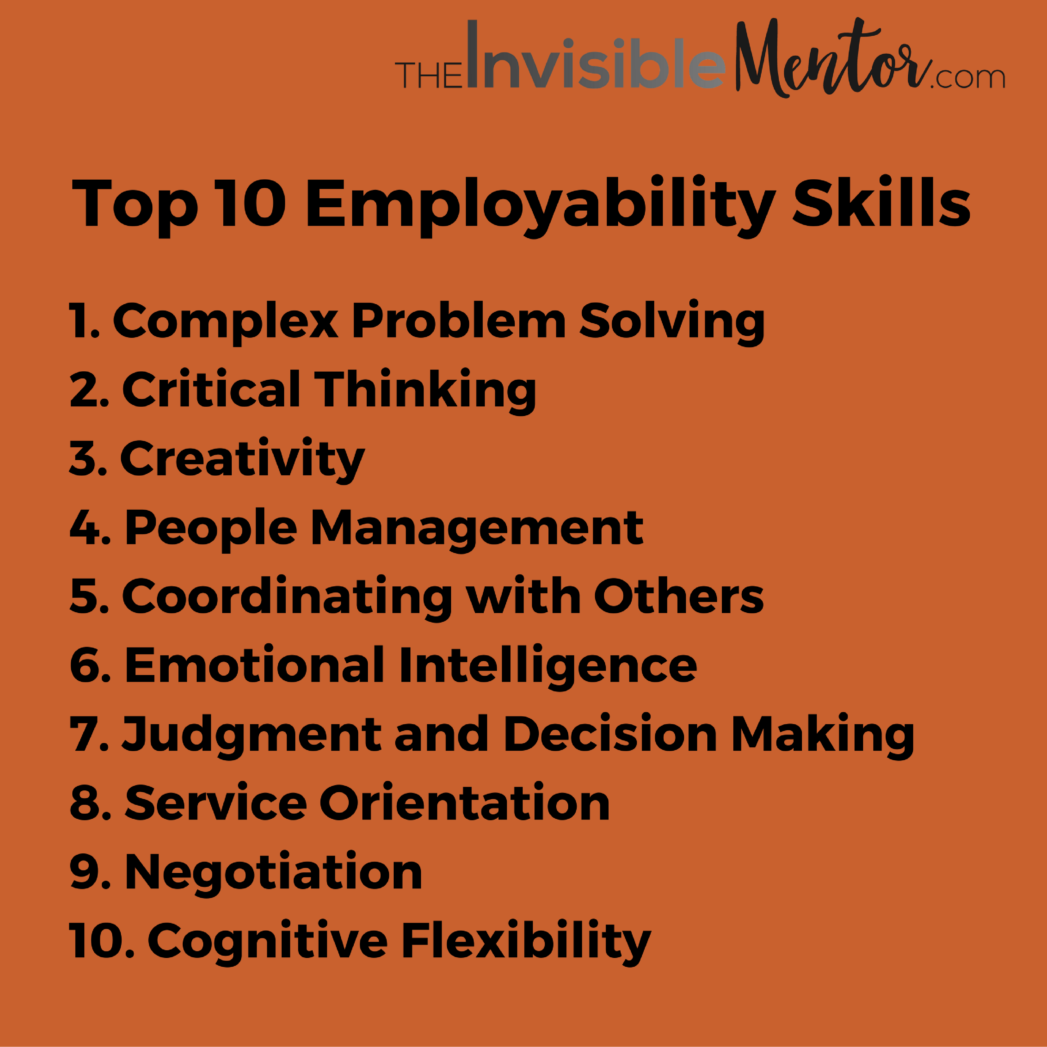 top 10 employability skills,Skills Needed for Future Jobs