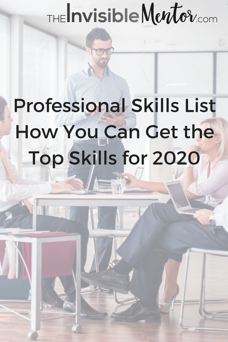 professional skills list journey to 2020 are you coming how to succeed using the professional skills list