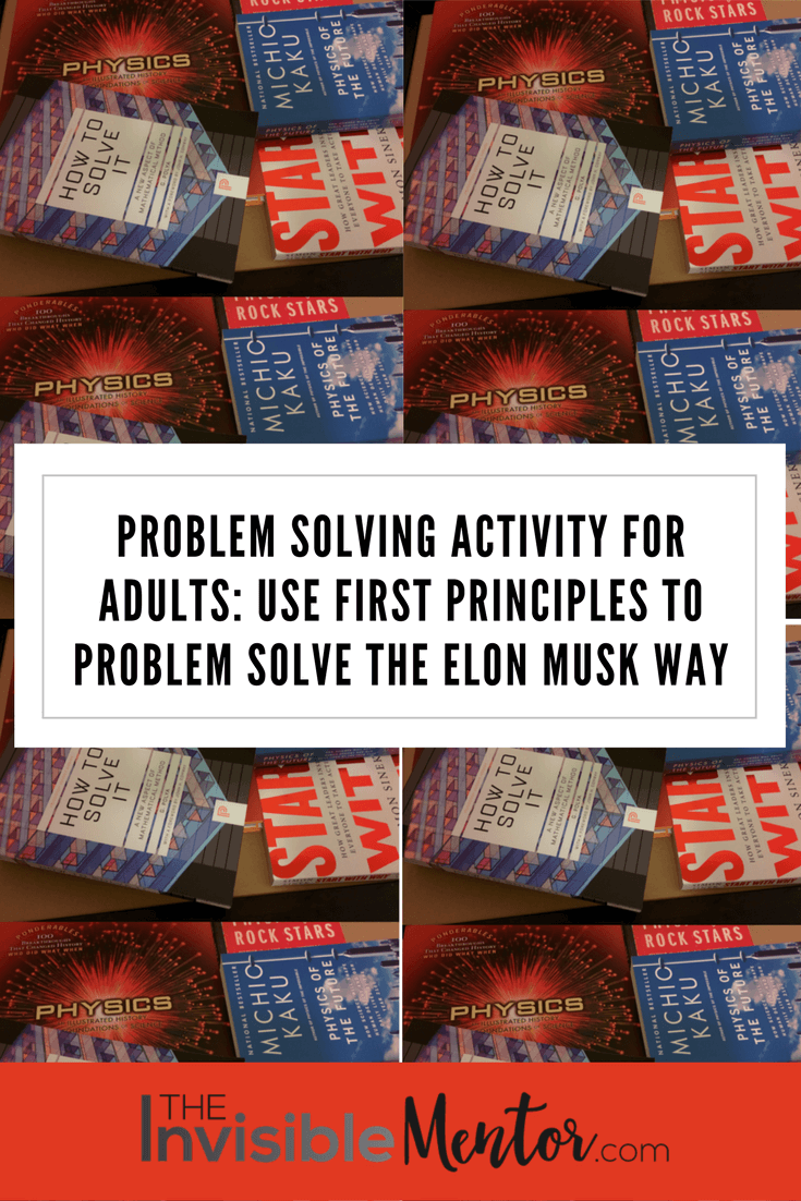 problem solving activity for adults, Elon Musk, first principles