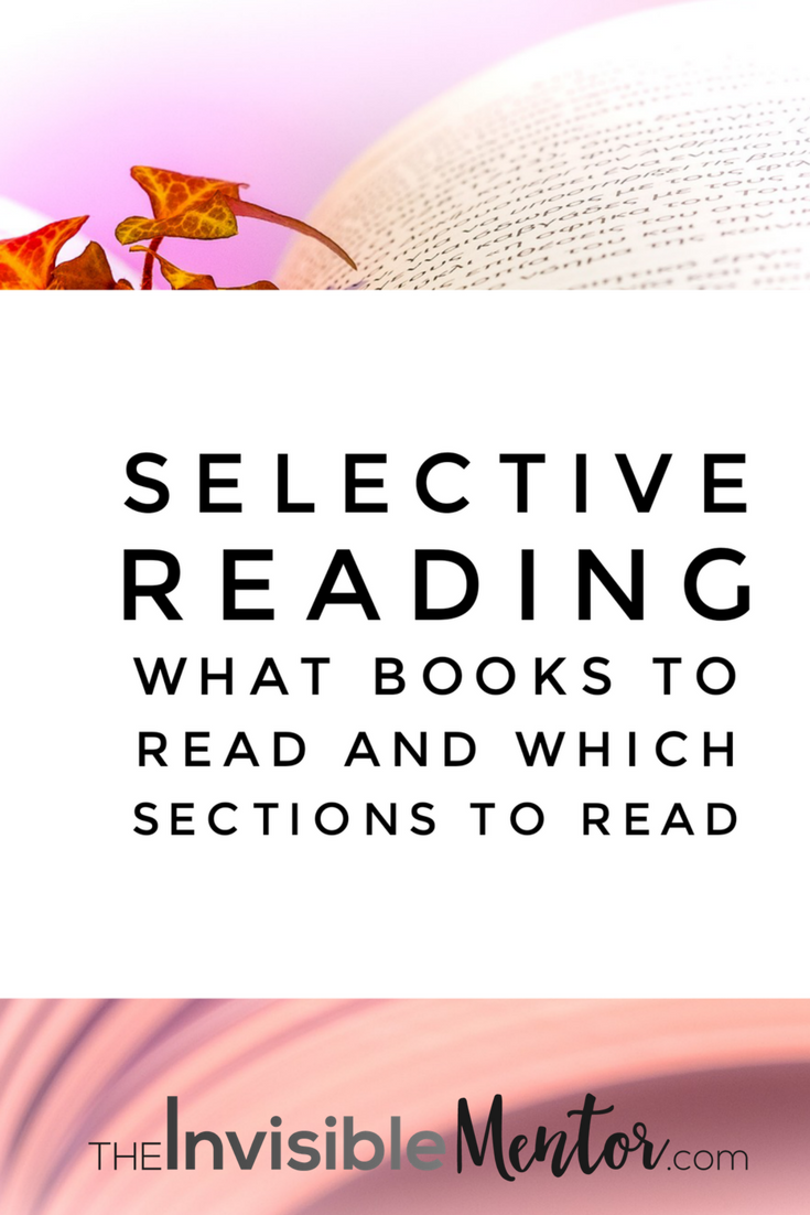 selective reading, reading with purpose, reading relevant information
