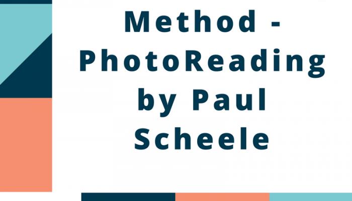 Speed Reading Method – PhotoReading by Paul Scheele