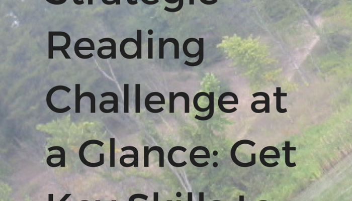Strategic Reading Challenge at a Glance: Get Key Skills to Succeed