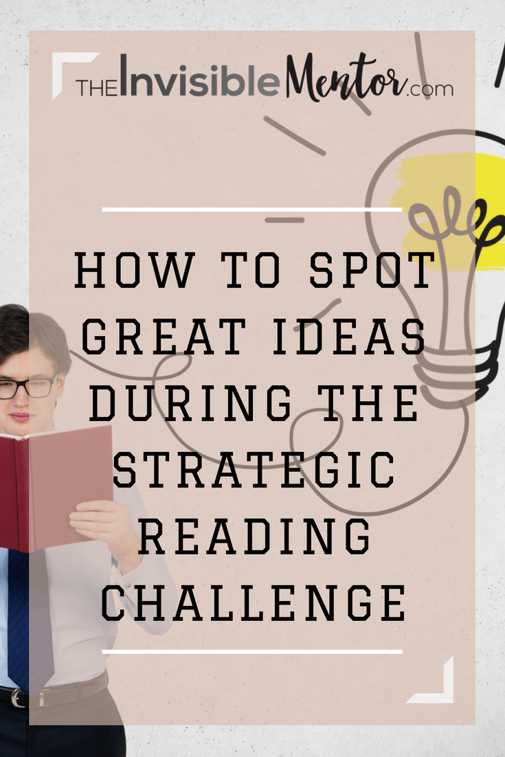 how to spot great ideas, spotting ideas,spot ideas in books