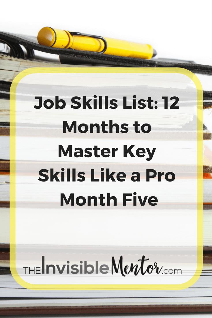 job skills list, list of professional skills, learning new skills for work