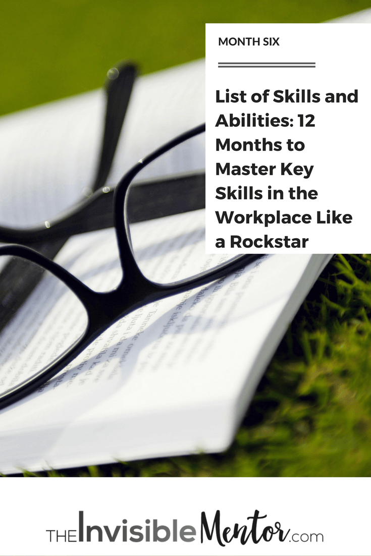 List Of Skills And Abilities 12 Months To Master Key Skills In The