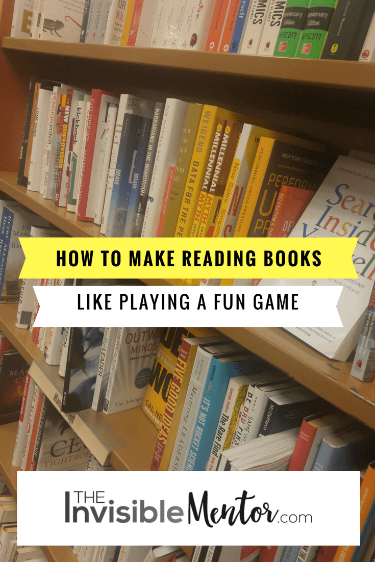 reading books, make reading books like playing a fun game, make reading books like a game