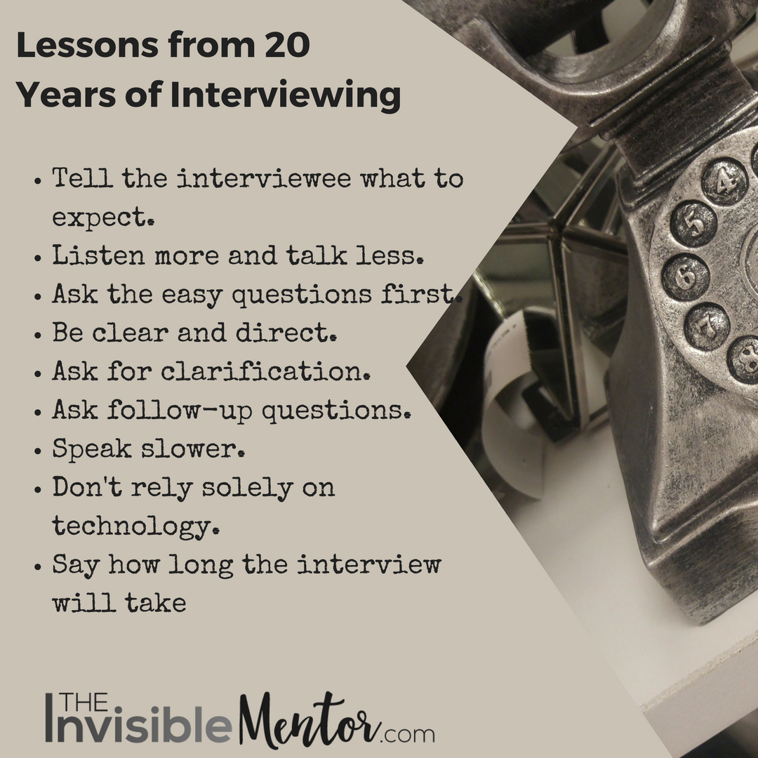 how to interview, lessons from conducting interviews