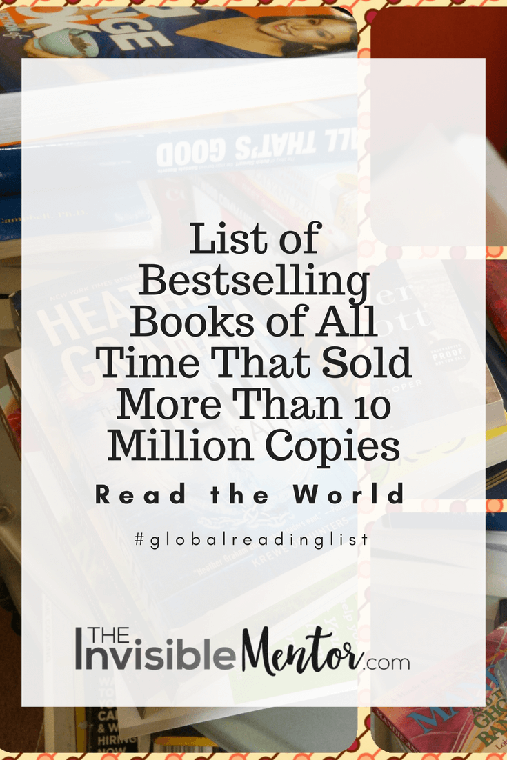List of Bestselling Books of All Time That Sold More Than