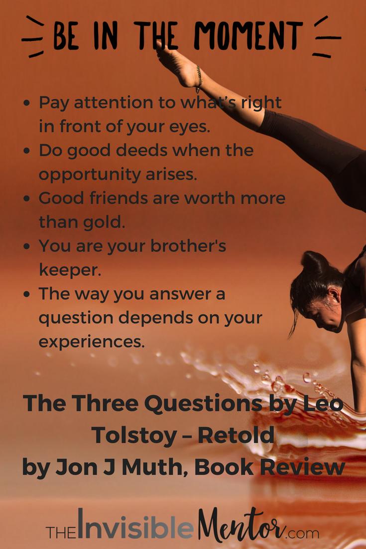 The three questions, Leo Tolstoy, Jon Muth, Jon J Muth, the three questions review