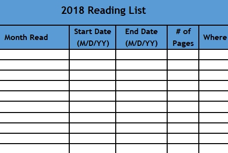 Book Tracker Reading Log To Keep Track Of Books Read The